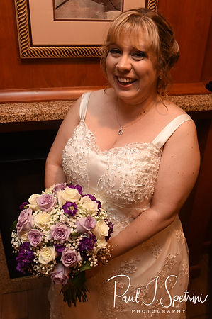 Robin smiles for a photo prior to her August 2018 wedding ceremony at Twelve Acres in Smithfield, Rhode Island.
