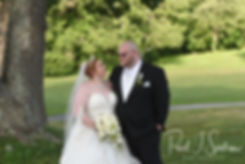 Cranston Country Club bride and groom fo