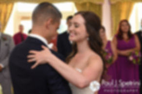 Alyssa and Alex share their first dance as husband and wife during their August 2016 wedding reception at LeBaron Hills Country Club in Lakeville, Massachusetts.