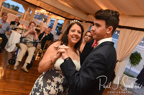 Mike and Kate dance with their children during their May 2018 wedding reception at Regatta Place in Newport, Rhode Island.