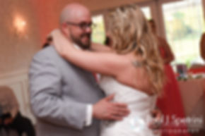 Michelle and Eric share their first dance during their May 2016 wedding at Hillside Country Club in Rehoboth, Massachusetts.