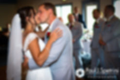 Heather and John dance during their July 2016 wedding reception at Crystal Lake Golf Club in Burrillville, Rhode Island.