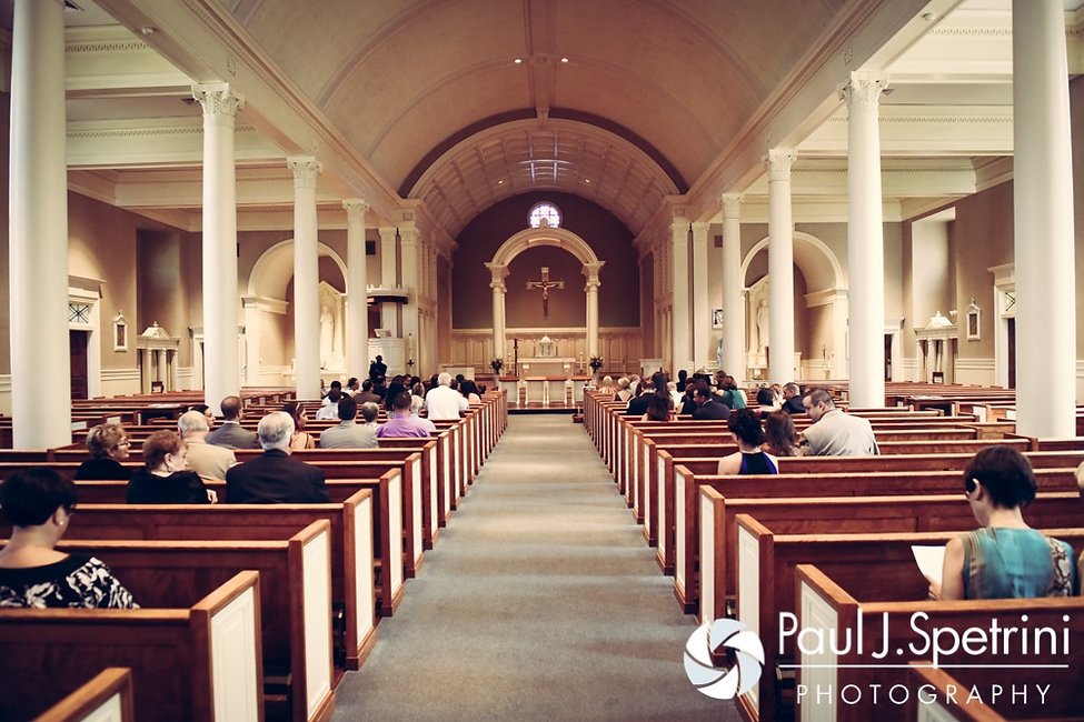 A look inside Holy Name Church in Fall River, Massachusetts prior to Alyssa and Alex's August 2016 wedding.