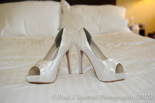 Jean Andrade's shoes on her wedding day.