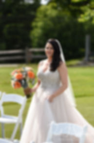 Stephanie arrives to her first look prior to her June 2018 wedding ceremony at Foster Country Club in Foster, Rhode Island.