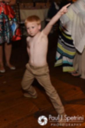Debbie's grandson dances during her and Bob's June 2016 wedding reception at DeWolf Tavern in Bristol, Rhode Island.