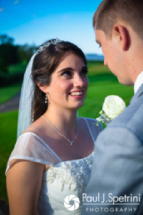 Neil and Gianna pose for a formal photo prior to their July 2017 wedding reception at Quidnessett Country Club in North Kingstown, Rhode Island.
