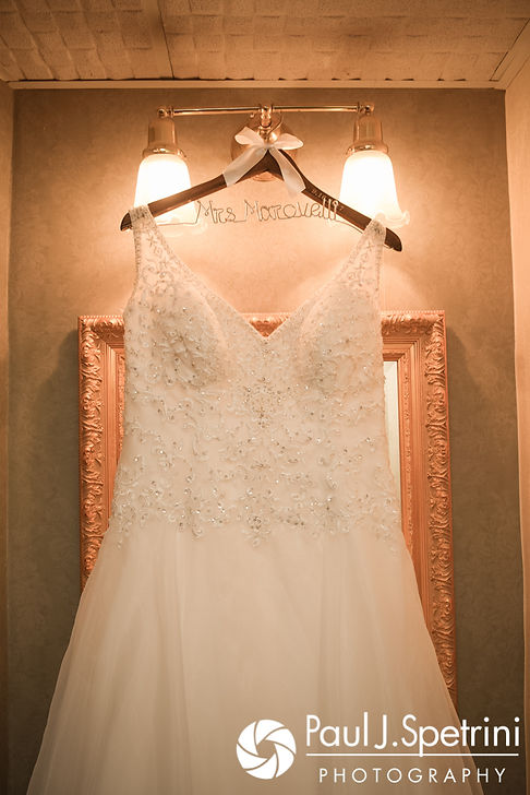 A look at Allison's dress prior to her September 2017 wedding ceremony at the Roger Williams Park Casino in Providence, Rhode Island.