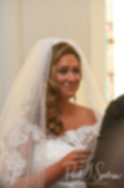 Cara reads her vows to Brandon during her November 2018 wedding ceremony at First Baptist Church in Hope Valley, Rhode Island.