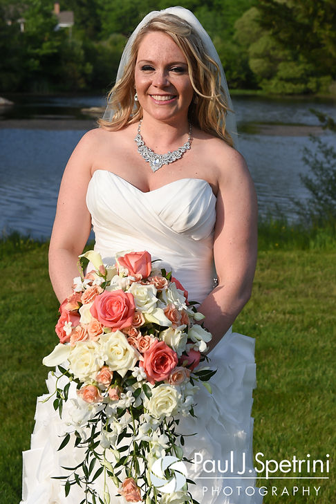Michelle smiles for a formal photo during her May 2016 wedding at Hillside Country Club in Rehoboth, Massachusetts.