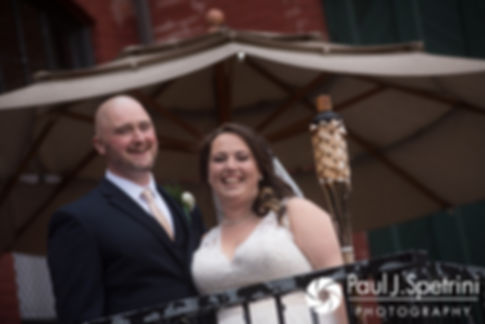 Meridith and Matthew pose for formal photos following their May 2017 wedding ceremony at the Hope Artiste Village in Pawtucket, Rhode Island.