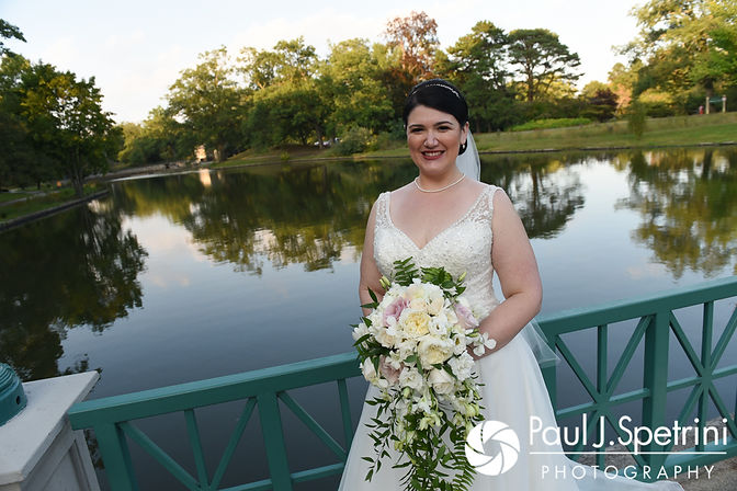Allison smiles for a photo following her September 2017 wedding ceremony at the Roger Williams Park Casino in Providence, Rhode Island.