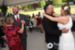 Latasha and Justin's dance with their father and mother, respectively, during their May 2016 wedding reception at Country Gardens in Rehoboth, Massachusetts.