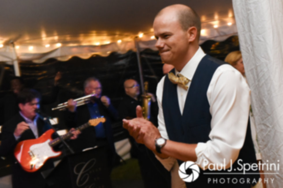 Kelly dances during his August 2017 wedding reception in Warwick, Rhode Island.