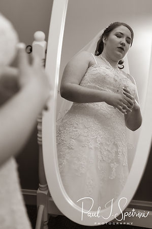 Kaytii takes a moment to reflect prior to her May 2018 wedding ceremony at Meadowbrook Inn in Charlestown, Rhode Island.