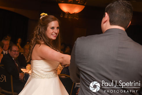 Kristin and Chris dance during their October 2016 wedding reception at the Ashworth by the Sea Hotel in Hampton, New Hampshire.