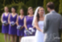 Kate looks at Sam during her April 2018 wedding ceremony at Quidnessett Country Club in North Kingstown, Rhode Island.