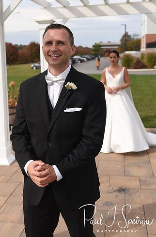 Wyndham Newport Hotel Wedding Photography, Bride and Groom First Look Photos