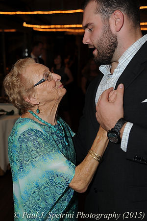 Jamie Bolani smiles during her June 2015 wedding reception.