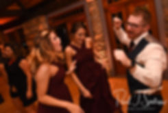 Guests dance during Rob & Allie's October 2018 wedding reception at The Towers in Narragansett, Rhode Island.
