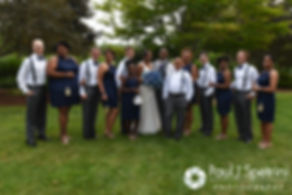 A look at Kemi and Warren's wedding party during their August 2016 wedding reception at the Villa at Riddler Country Club in East Bridgewater, Massachusetts.