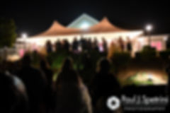 Guests gather for a Chinese lantern ceremony during Michelle and Eric's May 2016 wedding at Hillside Country Club in Rehoboth, Massachusetts.