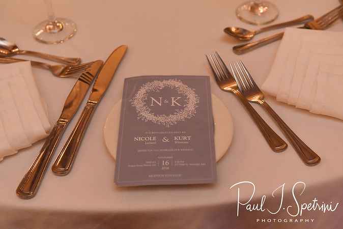 A look at some of the decor on display prior to Nicole & Kurt's November 2018 wedding reception at the Publick House Historic Inn in Sturbridge, Massachusetts.