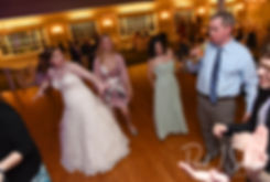 Guests dance during Nate & Kaytii's May 2018 wedding reception at Meadowbrook Inn in Charlestown, Rhode Island.