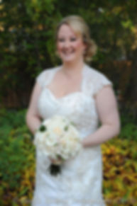 Kerry smiles for a photo prior to her fall wedding at Quidnessett Country Club in North Kingstown, Rhode Island on October 23rd, 2015.