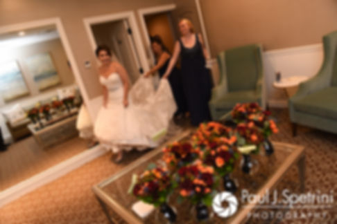 Kristina arrives to her bridal suite prior to her October 2017 wedding ceremony at the Villa Ridder Country Club in East Bridgewater, Massachusetts.