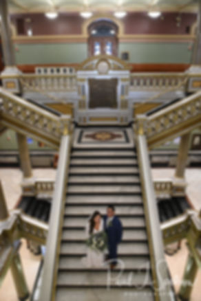 Providence City Hall Bride and Groom For