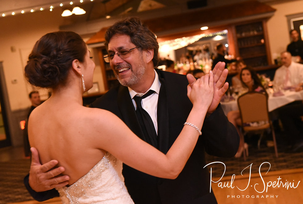 Kendra and her father dance during her May 2018 wedding reception at Crystal Lake Golf Club in Mapleville, Rhode Island.