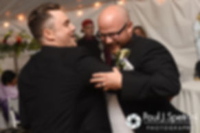Forrest dances with his best man during his October 2016 wedding reception in Charlestown, Rhode Island.