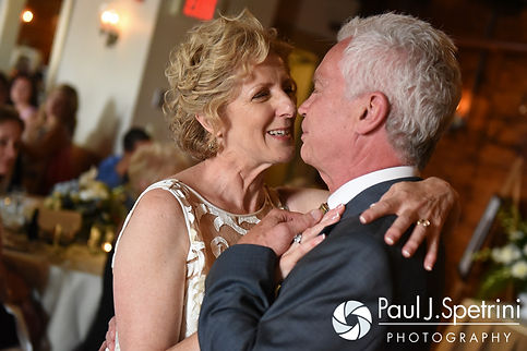 Bob and Debbie share their first dance as husband and wife during their June 2016 wedding reception at DeWolf Tavern in Bristol, Rhode Island.