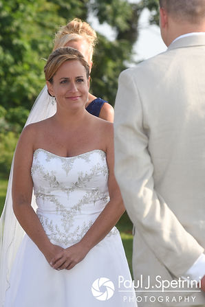 Rebecca looks at Kelly during her August 2017 wedding ceremony in Warwick, Rhode Island.
