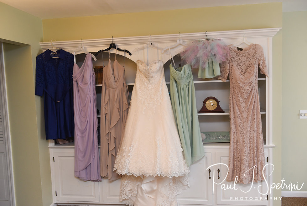 A look at Kaytii and her bridemaid's wedding dresses prior to her May 2018 wedding ceremony at Meadowbrook Inn in Charlestown, Rhode Island.