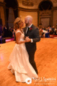 Tricia and Kevin dance during their October 2017 wedding reception at the Providence Biltmore in Providence, Rhode Island.