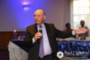 Mark's father gives a speech during his September 2016 wedding reception at the RI Shriners and Imperial Room at Rhodes Place in Providence, Rhode Island.