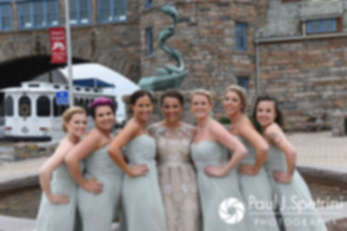 Arielle poses for a photo with her bridesmaids prior to her September 2017 wedding ceremony at North Beach Club House in Narragansett, Rhode Island.