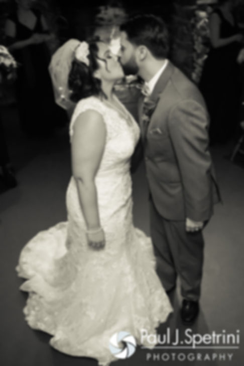 Crystal and Andy kiss following their November 2016 wedding ceremony at the Salem Cross Inn in West Brookfield, Massachusetts.