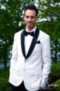 Joe smiles prior to his May 2018 wedding ceremony at Crystal Lake Golf Club in Mapleville, Rhode Island.