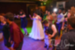 Ashley dances with guests during her September 2018 wedding reception at Stepping Stone Ranch in West Greenwich, Rhode Island.