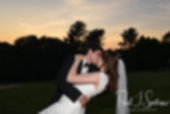 Brian & Sarah pose for a formal photo during their June 2018 wedding reception at Pleasant Valley Country Club in Sutton, Massachusetts.