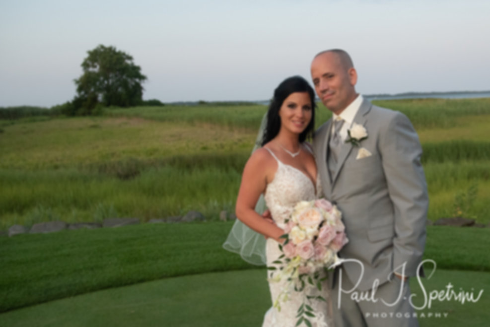 Quidnessett Country Club bride and groom