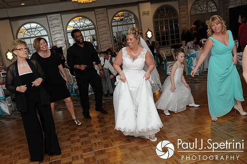 Angela leads the dance floor at her spring 2016 Rhode Island wedding at the Hotel Viking in Newport, Rhode Island.