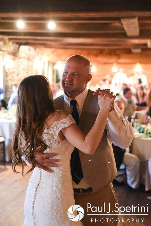 Krystal and her dad dance during her May 2016 wedding reception at DeWolf Tavern in Bristol, Rhode Island.