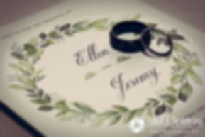 A look at Ellen and Jeremy's wedding invitation for their May 2016 wedding at Bittersweet Farm in Westport, Massachusetts.