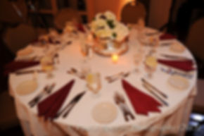 A look at the table decorations at Emma and Mike's November 2015 wedding at the Publick House in Sturbridge, Massachusetts.