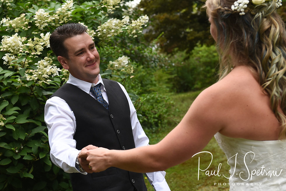 Josh smiles prior to his September 2018 wedding ceremony at their home in Coventry, Rhode Island.