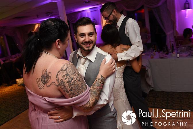 John dances with his sister during his September 2017 wedding reception in Warren, Rhode Island.